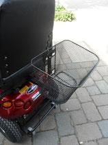 Korb hinten komplett mit L- und Korbhalter (T-Halter) passend für Shoprider, Freerider, Kymco etc.