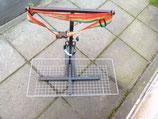 Leichtgewicht/Falt-Rollator-Halter mit Korb zum leichten Beladen passend für CTM mit 2 Befestigungsstreben;
