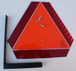 Heckmarkierungstafel aus Aluminium mit L-Halter