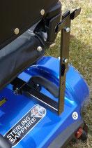 L-Halter mit Korbhalter und Schrauben für Korb hinten