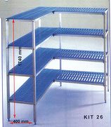 Regalsystem für Kühlzellen