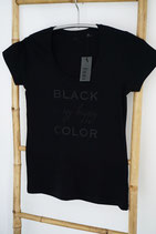 TS001-T-Shirt *BLACK is my happy Color*