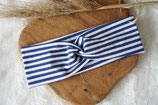 H013-Headband *Stripes Blau/Weiß*