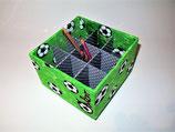 Fußball, große Box, stoffbezogen mit neun Fächern für ganz viele Stifte, Bastelwerkzeug, personalisierbar, Sortierbox