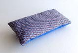Petit coussin Bleu motif graphique, 22 cm x35 cm
