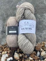 Leela Cardigan - Yarn kits / Wollpakete - natur