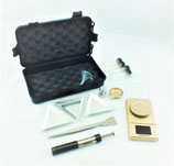 Wiege-Set 'GOLD EDITION' Digitale Feinwaage 0,001 gr bis 50 gr - 4 Waagschalen - Pinzette - Magnet - Sammelgläser