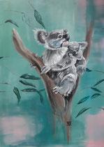 Koalabär mit Junges