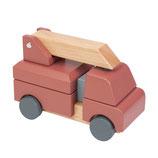 Sebra Stapelspiel Feuerwehrauto aus Holz
