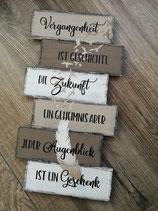 """Schild """"Vergangenheit"""" mittel"""