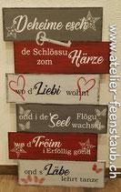 """Schild """"Deheime esch..."""" mittel"""