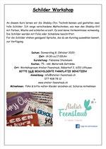 Schilder Workshop 8. Oktober 2020 / 20.00Uhr