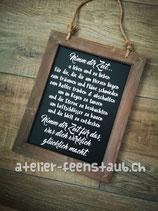 Schiefer-Tafel Nimm dir Zeit