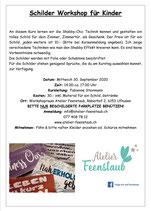 Schilder Workshop für Kinder 30. September 2020 / 14.00Uhr