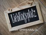 Schiefer-Tafel Lieblingsplatz