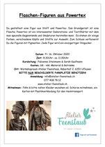 Workshop Flaschen-Figuren aus Powertex 16. Oktober 2020 / 8.30Uhr