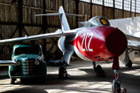 Soviet time under the shadow in the hangar
