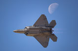 F22 meets the moon
