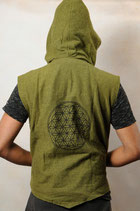 Flower of Life Veste - Grün
