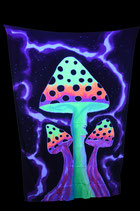 Magic Mushrooms Schwarzlicht Wandtuch 3