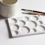 Tavolozza in ceramica per colori ad acquerello