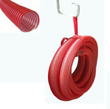 Einblasschlauch PE NW 76 rot L=15m