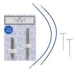 Chiaogoo Twist Lace Shorties Blue