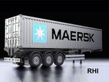 56326, 1/14 40-Foot Container Semi-Trailer MAERSK