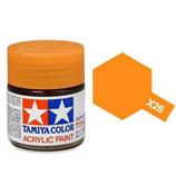 X 26 Clear Oranje