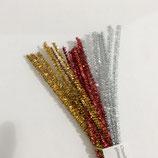 Glitterpakket chenilledraad dun 30 cm 30 st