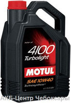 Motul 4100 Turbolight 10/40 полусинтетическое 4л