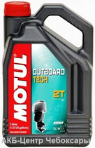 Motul Outboard Tech 2T 5л TC-W3 для водной техники полусинтетическое