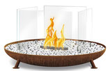 Ethanol-Feuerstelle - Lodge