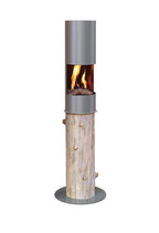 The Flame - Round Log - Silber