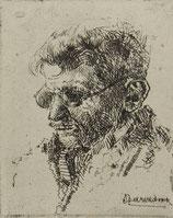 Portret man met bril