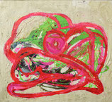 Abstract met roze centrum