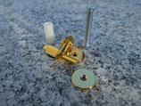 iNsert-GG,Bridge Stud/Adapter, Gold plated, gloss (ein Paar) Art. Nr. 3118