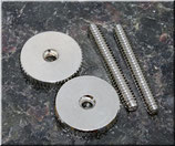ST-ING, 6-32 Inch, '59ABR Studs/Thumbwheel Kit (pair),nickel,gloss Art. Nr. 3082