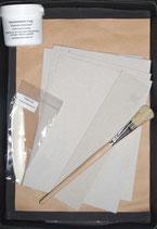 Starterset für eine DinA 5 Mappe für Notizblöcke / Schreibblöcke mit Leim