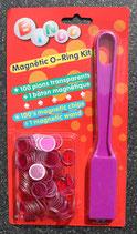 Magneetstok met 100 magnetische kiendopjes