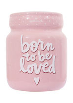 Spaarpot 'Born to be loved' - Roze