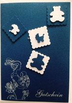 Trageberatung Reken - Geschenkgutschein / Karte blau