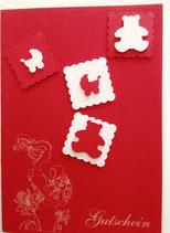 Trageberatung Reken - Geschenkgutschein / Karte rot