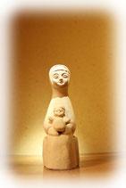 聖母子座像