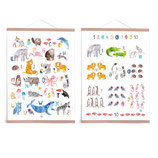 Set ABC Poster & Zahlenposter *Tiere* (pastell)