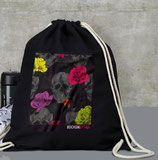 Turnbeutel / BackPack mit Death Flower, Peace oder Mikro Motiv