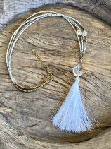 Halskette WHITE TASSEL