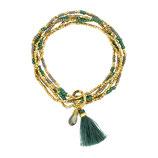 Armband BOHEMIAN green/gold