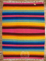 """Pueblo-Blanket """"Pink-Rainbow"""""""