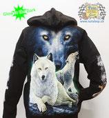 "Hoodie ""White Wolf"""